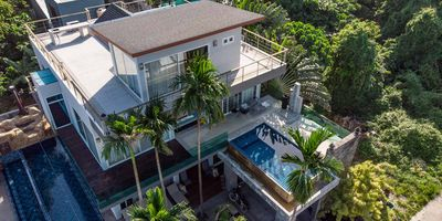 Stunning 8 Bedroom Ocean View Resort Style Villa – 3 Private Pools with Zip-Line